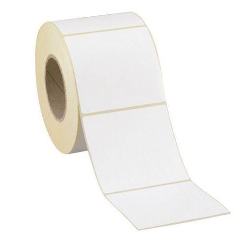 etiquette blanche adhésive en rouleau